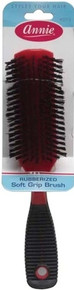 "Annie Rubberized Soft Grip Hair Brush #2018 8""x 2"""