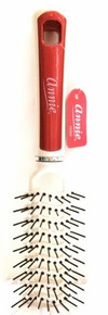 "ANNIE PEARLY RED VENT BRUSH BALL TIPPED NYLON BRISTLE VENT BRUSH #2363 9""x 2"""