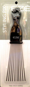 ANNIE EZE FIST STYLING PIK 5 #6672 W/ METAL PINS LONG PIK UNTANGLES LIFTS STYLES