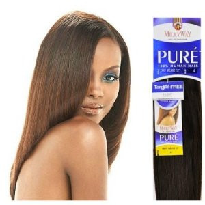 Milkyway Remy Human Hair Weave Pure Yaky Ombre Two Tone 10 Quot