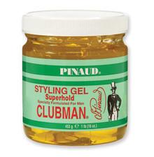 Clubman Superhold Styling Gel, Jar, 16 oz.
