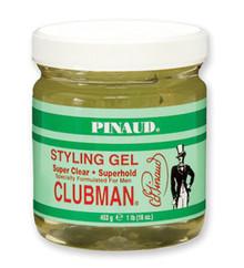 Clubman Super Clear - Super Hold Styling Gel, Jar, 16 oz.