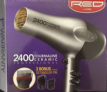 Red by kiss 2400 Tourmaline Ceramic Professional with Attachments