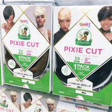 "Janet Collection Pixie Cut 100% Virgin Human Hair- 38 pcs + 10"" 4pcs"