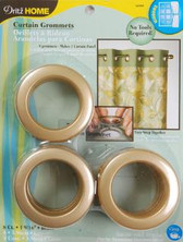 Dritz Curtain Grommets Brass Colored Finish 8 Pack
