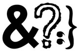 "Ampersand 2""  Question mark 2""  Bracket 2"""