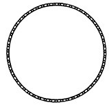 Beaded Deco Circle - Plain (Reg. $3.50)