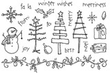 "Snowflake large (7/8"" x 1 1/8"")  Snowman (1 1/4"" x 1 1/2"")  merriness (1 1/4"" x 1/4"")  Light bulb (1/4"" x 1/2')  Holly border (5 1/2"" x 3/4"")"