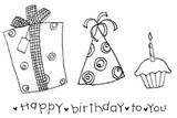 Doodle Birthday Set