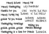 Thanksgiving Feast Sentiment Set