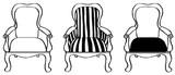 """Each chair 1 1/8"""" x 1 5/8"""""""