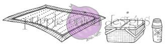 """Blanket (4 1/4"""" x 1 5/8"""")  Basket (1 5/8"""" x 1"""")  Thermos (1/2"""" x 1"""")"""