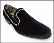 A&M Black Studded Velvet