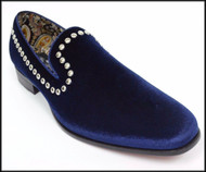 A&M Navy Studded Velvet