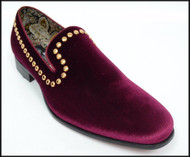 A&M Burgundy Studded Velvet