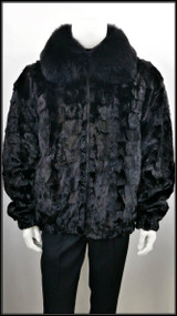 Winter Fur's Mink Fur Coat - Black