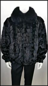 Winter Fur's Mink Fur Coat - Black