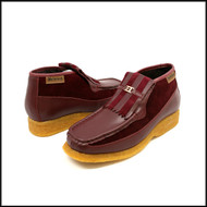 British Collection Apollo-Burgundy Leather/ Suede Slip-on