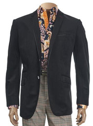 Inserch VELVETEEN BLAZER WITH PIPING TRIM. Prices are exclusive to online sales.