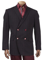 INSERCH BLACK CHECK DOUBLE-BREASTED BLAZER. Prices are exclusive to online sales.