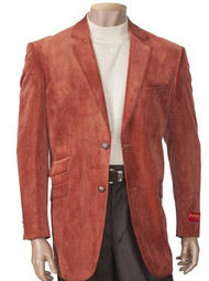 SUEDED NOTCH LAPEL BLAZER BRICK. Prices are exclusive to online sales.