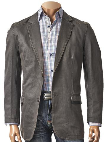 COTTON COATED BLAZER BLACK. Prices are exclusive to online sales.