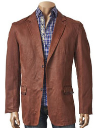 COTTON COATED BLAZER BRICK. Prices are exclusive to online sales.