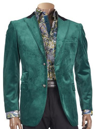 SUEDED JACKET WITH CONTRAST TRIM GREEN. Prices are exclusive to online sales.