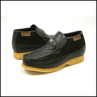 British Collection Checkers-Brown Leather and Suede Slip-on