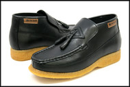British Collection Classic-Black Leather Slip-on with Tassle