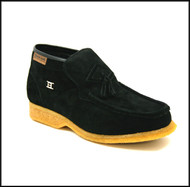 British Collection Palace-Black Suede Slip-on