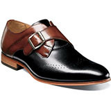 Stacy Adams Saxton Wingtip Perfed Monk Strap features a sophistication and stately buckle of the monk strap. Prices are exclusive to online sales. Wingtip perfed monk strap. Smooth genuine leather uppers with breathable leather linings. Fully cushioned insole with Memory Foam for added comfort. Non-leather outsole.