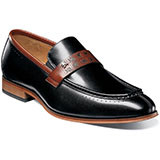 The Sussex Moc Toe Strap Loafer is available in a solid color or two-tone leather, there's one fit for every occasion. Prices are exclusive to online sales Moc toe strap slip-on. Smooth genuine leather uppers with breathable leather linings. Fully cushiond insole with Memory Foam for added comfort. Non-leather outsole.