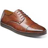 The Stacy Adams Travers Cap Toe Oxford is the missing component to your wardrobe.Prices are exclusive to online sales. Genuine suede or smooth leather uppers with breathable leather linings. Fully cushioned insole with memory Foam for added comfort. Flexible rubber bottom.