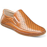 Northpoint Moc Toe Slip-on from Stacy Adams. Everything you can ask for in a summer shoe at your disposal. Prices are exclusive to online sales.     Moc toe slip-on. Breathable leather linings with polyurethane uppers. Fully cushioned insole. Flexible rubber bottom.