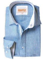 This 100% LINEN JACQUARD SPREAD COLLAR SHIRT by Inserch is just in time for Spring/Summer 2018. Prices are exclusive to online sales.