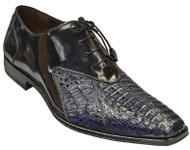 """Bergen Crocodile"" by Mezlan in Navy and Black. Prices are exclusive to online sales."