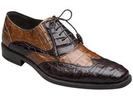Mezlan Dade Croocodile shoe in Brown and Camel. Prices are exclusive to online sales.