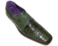 """Carlino"" by David x a croodile and lizard shoe in Olive. Prices are exclusive to online sales."