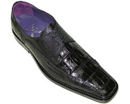 """Carlino"" by David x a croodile and lizard shoe in Black. Prices are exclusive to online sales."