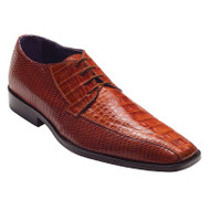"""Gino"" by David x a croodile and lizard shoe in Cognac"