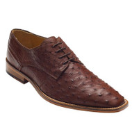 """Orlando"" by David x a genuine ostrich in Brown. Prices are exclusive to online sales."