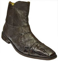 """Boca"" by David x a genuine croocodile and lizard boot in Brown. Prices are exclusive to online sales."