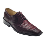 """Mory"" by David x a genuine croocodile and lizard shoe in Wine"