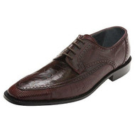 """Monte"" by David X. A genuine lizard and ostrich shoe in Wine"