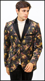 Prestige Peak Collar Floral Printed Blazer with a Viscose finish. Prices are exclusive to online sales.