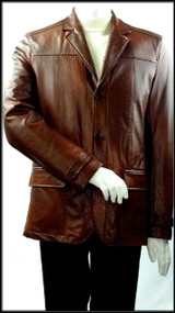 SilversilkVegan Leather Brown Jacket. Prices are exclusive to online sales.