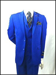 Stacy Adams 2 button 3pc Royal Blue Slim Fit Suit. Prices are exclusive to online sales.