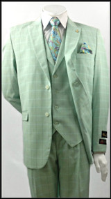 Falcone 3 piece tone on tone checkered Mint suit. Prices are exclusive to online sales.