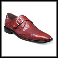 Dapper and distinguished, the Stacy Adams Arrico is a game-changer. With its wingtip design and snazzy crocodile print leather upper, this modern monk can be worn day in and day out. Price are exclusive to online sales.   -Crocodile printer leather with kidskin suede upper Wingtip Monk Strap -Fully cushioned inolse with Memory Foam -Leather sole